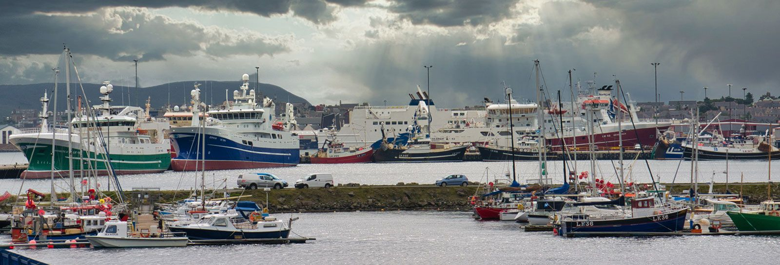 Lerwick Harbour in Shetland banner image